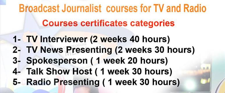 Training: journalism courses for TV and Radio  image